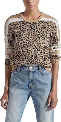 Current/Elliott The Duvall Leopard-Print Sweater