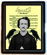 Sweetheartsinner Edgar Allan Poe Raven Gothic ID Card or Cigarette Case