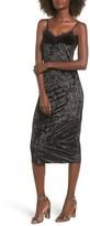 LIRA Women's Eclipse Lace & Velvet Slipdress