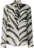 Lanvin zebra print shirt