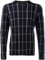 Theory grid knit jumper