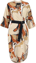By Malene Birger Vinnie printed washed-silk wrap dress