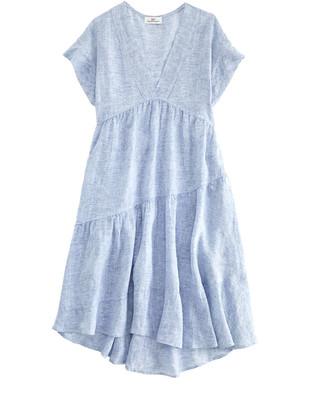 Vineyard Vines Tiered Linen Swing Dress