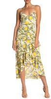 Lush Asymmetrical Print Dress