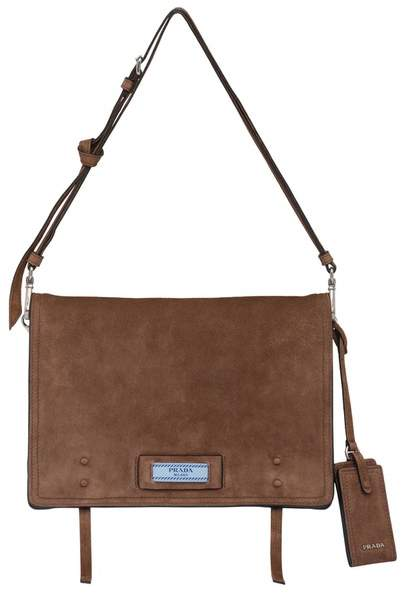 8b79add30ffb Prada Suede Shoulder Bags - ShopStyle