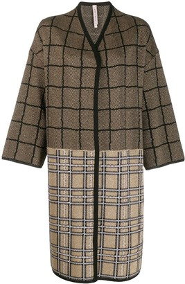 Antonio Marras Check Contrast Panel Coat