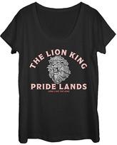 Fifth Sun Women's Tee Shirts BLACK - The Lion King Black Minimal 'Lion King' Scoop Neck Tee - Women & Juniors