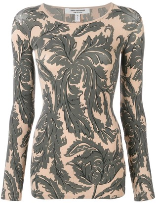 Junya Watanabe floral print fitted sweatshirt