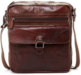 Jack Georges Voyager Large Genuine Buffalo Leather Crossbody