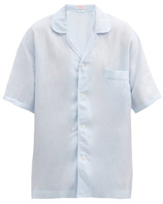 Emma Willis Short-sleeved Linen Shirt - Light Blue