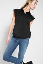 7 For All Mankind Angular Pocket Shirt In Black