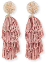 Sachin + Babi Chacha Fringe Clip Statement Earrings