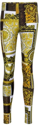 Versace Barocco printed leggings