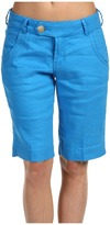 Christopher Blue Carly Bermuda Short Monaco Linen (Bikini Blue) - Apparel