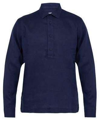 Orlebar Brown Ridley Linen Shirt - Mens - Navy