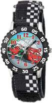 Disney Boy's 'Cars' Quartz Stainless Steel and Nylon Casual Watch, Color: (Model: WDS000025)