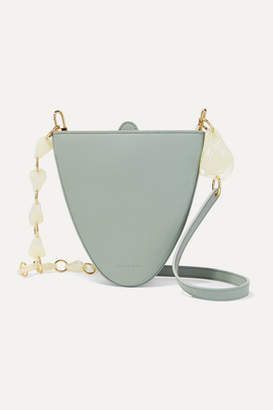 Naturae Sacra - Cyssus Leather And Resin Shoulder Bag - Green