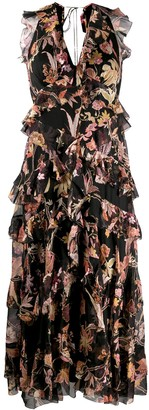 Zimmermann Phoenix-print tiered ruffle dress