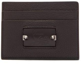 Christian Louboutin Kios Spike Leather Cardholder - Mens - Black