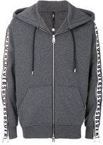 Versus zipped logo panel hoodie