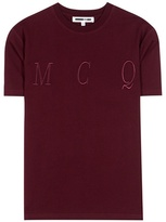 McQ by Alexander McQueen Embroidered Cotton T-shirt