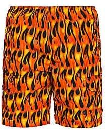 Palm Angels Men's Burning Flames Swim Trunks