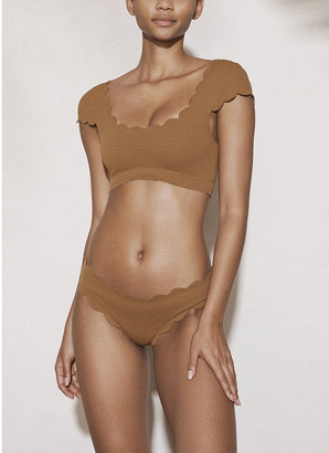 Marysia Swim Cap-Sleeve Mexico Bikini Top