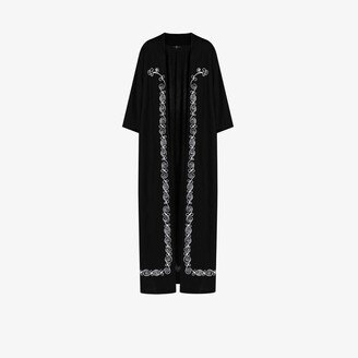 Edward Crutchley Embroidered Short Sleeve Overcoat - Men's - Mohair/Wool