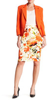 Kasper Printed Scuba Skirt