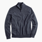 J.Crew Slim cotton-cashmere half-zip sweater