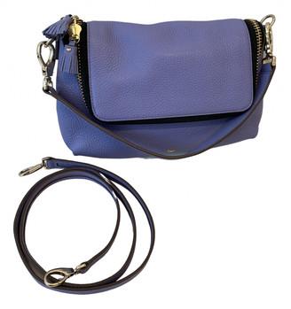 Anya Hindmarch Maxi Zip Purple Leather Handbags