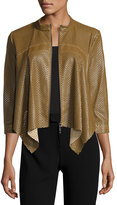 womens brown faux leather jacket - ShopStyle