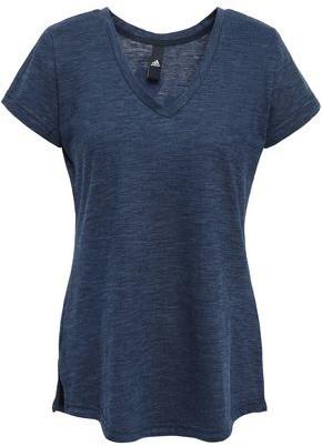 adidas Printed Melange Cotton-blend Jersey T-shirt