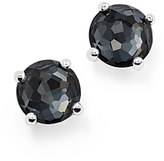 Ippolita Sterling Silver Rock Candy Mini Doublet Stud Earrings in Clear Quartz and Hematite