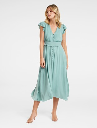 Forever New Amayah Button-Front Midi Dress - JADE STONE - 4