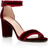 Stuart Weitzman Frayed Velvet Sandals
