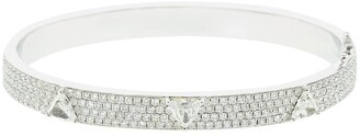 Anita Ko 18kt White Gold Pave Diamond Oval Bangle