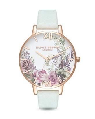 Olivia Burton Womens Analogue Quartz Watch with Leather Strap OB16EG105
