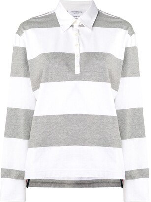 Thom Browne 4-Bar Oversized Rugby Polo