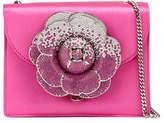Oscar de la Renta Mini Gardenia Satin Crossbody Bag