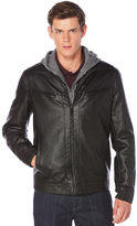 Perry Ellis Bomber Jacket w/ Removable Hood