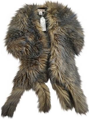 Marni Brown Faux fur Coat for Women