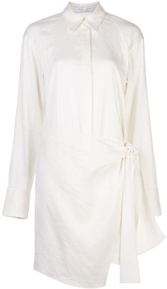 Proenza Schouler White Label Wrap Detail Shirt Dress