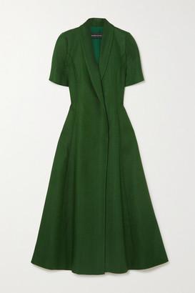 Brandon Maxwell Woven Midi Dress - Green