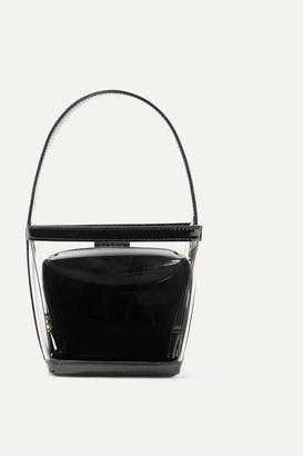 STAUD Edie Pvc And Patent-leather Tote - Black