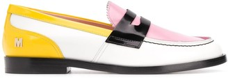 MSGM Colour-Block Loafers
