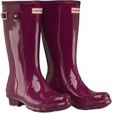 Hunter Girls Gloss Wellington Boots Bright Violet