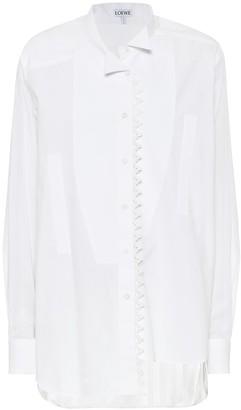 Loewe Embroidered asymmetric cotton shirt