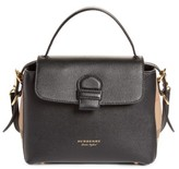 Burberry Small Camberley Leather & House Check Satchel - Black