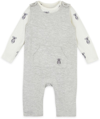 Marks and Spencer 2pc Animal Dungarees (0-12 Mths)